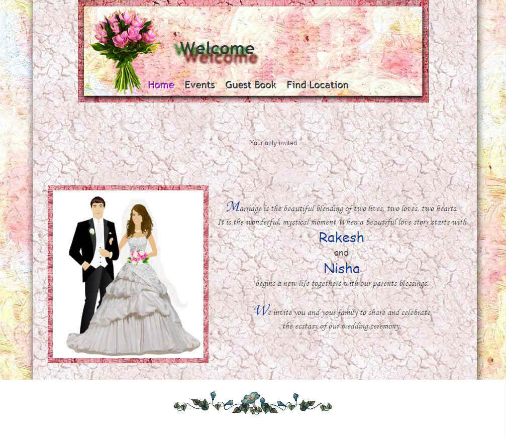 Wedding website templates, wedding website themes | InviteIndia
